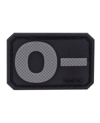 TACWRK - Blutgruppe PVC Patch 0- Grau