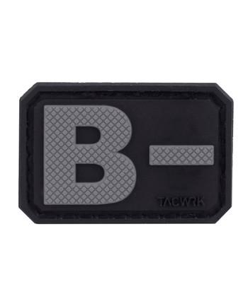 TACWRK - Blutgruppe PVC Patch B- Grau