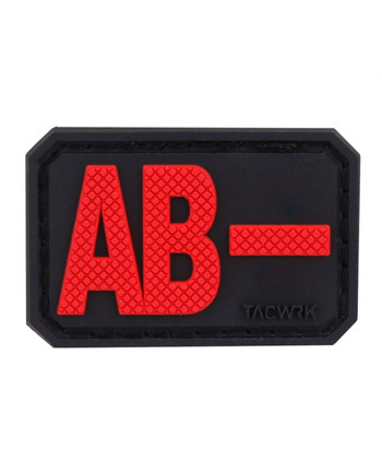 TACWRK - Blutgruppe PVC Patch AB- Rot