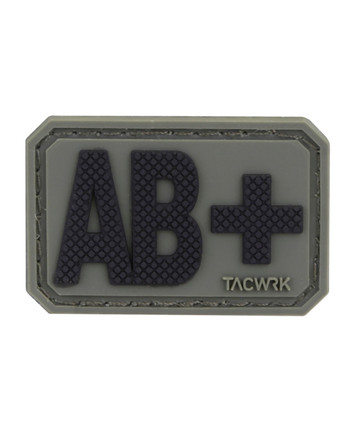 TACWRK - Blutgruppe PVC Patch AB+ Oliv