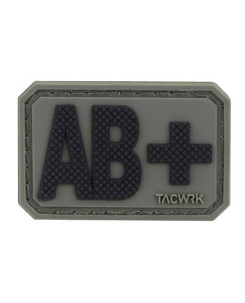 TACWRK - Blutgruppe PVC Patch AB+ Oliv
