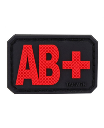 TACWRK - Blutgruppe PVC Patch AB+ Rot