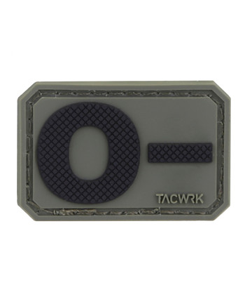 TACWRK - Blutgruppe PVC Patch 0- Oliv