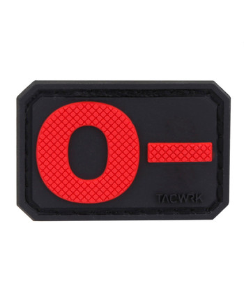 TACWRK - Blutgruppe PVC Patch 0- Rot