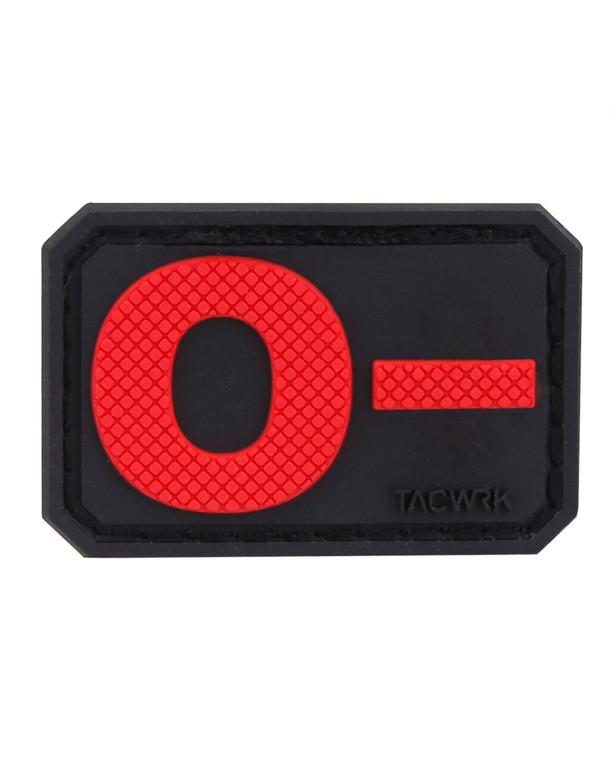 TACWRK Blutgruppe PVC O- Red