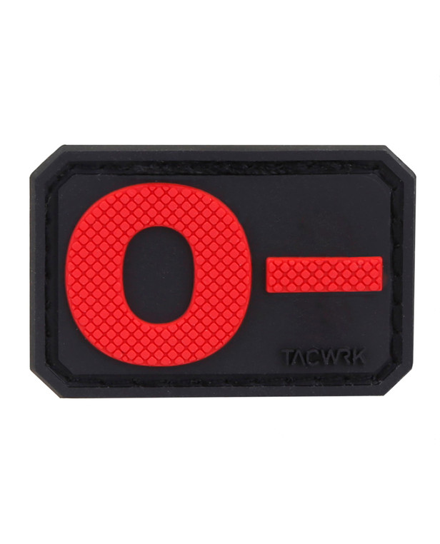 TACWRK Blutgruppe PVC Patch 0- Rot