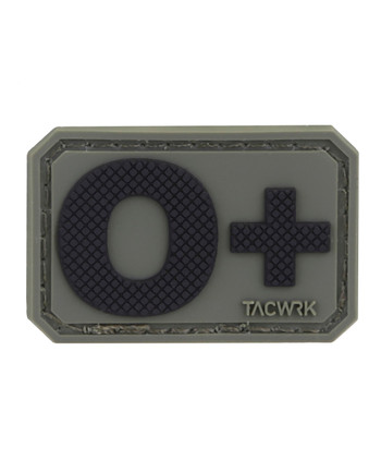 TACWRK - Blutgruppe PVC Patch 0+ Oliv