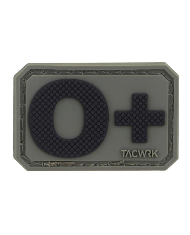 TACWRK Blutgruppe PVC Patch 0+ Oliv