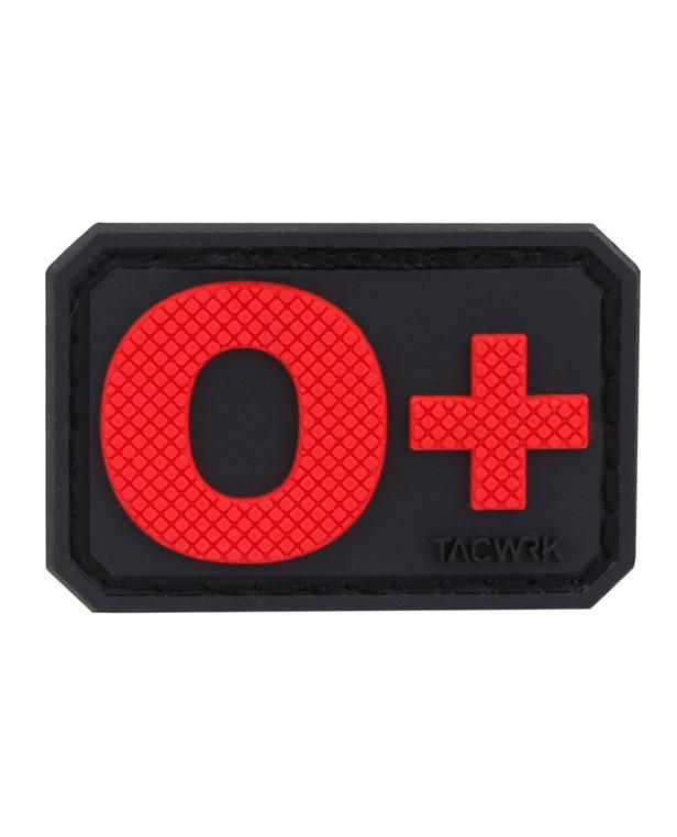 TACWRK Blutgruppe PVC O+ Red