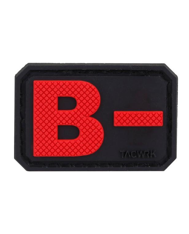 TACWRK Blutgruppe PVC Patch B- Rot