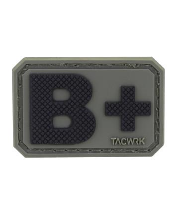 TACWRK - Blutgruppe PVC Patch B+ Oliv