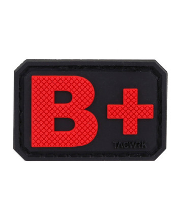 TACWRK - Blutgruppe PVC Patch B+ Rot