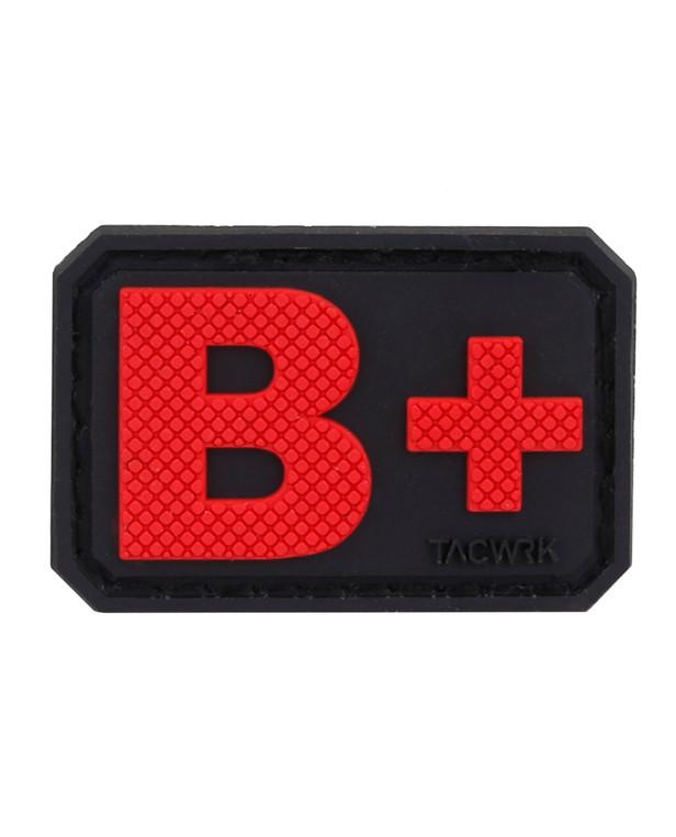 TACWRK Blutgruppe PVC B+ Red