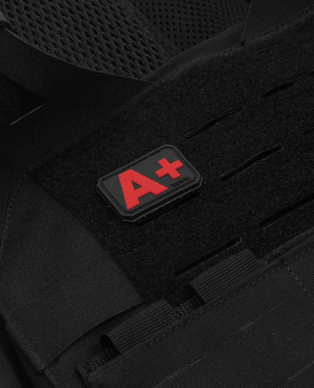 TACWRK Blutgruppe PVC Patch A- Rot