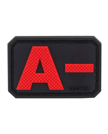 TACWRK - Blutgruppe PVC Patch A- Rot