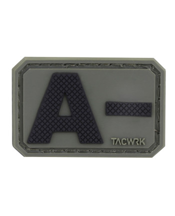 TACWRK - Blutgruppe PVC Patch A- Oliv