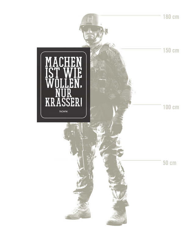 TACWRK Machen-Wollen Poster Glatt Ungefalzt Schwarz