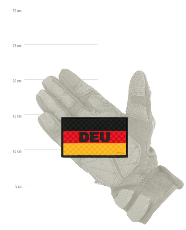 TACWRK German Flag DEU Patch Black Red Gold