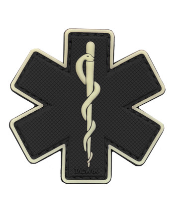 TACWRK - Paramedic Patch Black/GITD