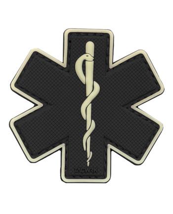 TACWRK - Paramedic Patch Schwarz/GITD