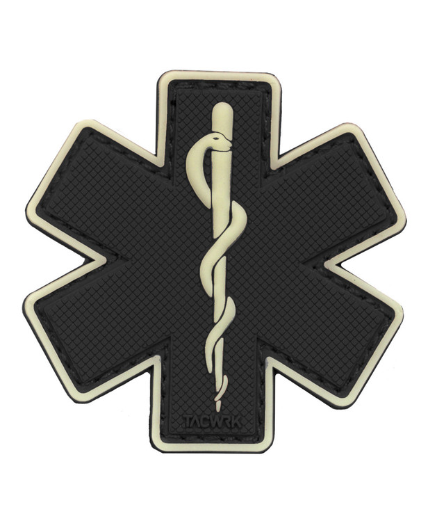 TACWRK Paramedic Patch Schwarz/GITD