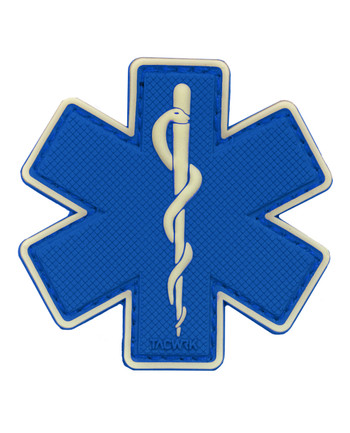 TACWRK - Paramedic Patch Blue/GITD