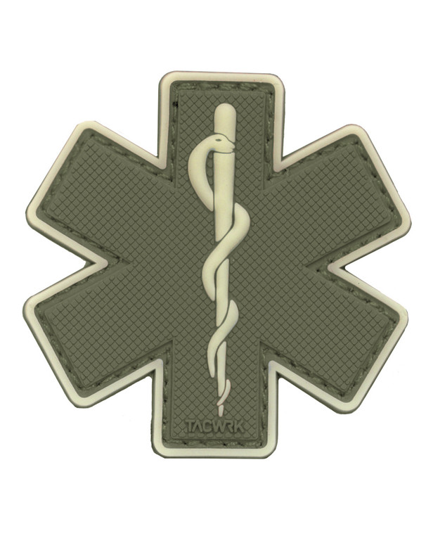 TACWRK Paramedic Patch Olive/GITD