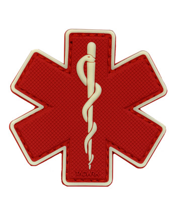 TACWRK - Paramedic Patch Red/GITD