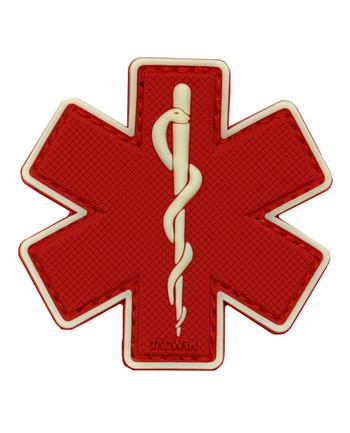 TACWRK - Paramedic Patch Red/GITD