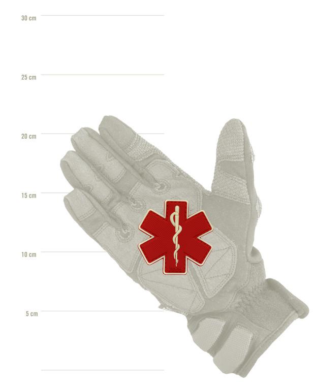 TACWRK Paramedic Patch Red/GITD