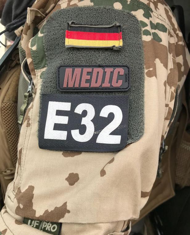 TACWRK Medic Lettering Red