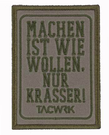 TACWRK - Machen-Wollen Patch Olive