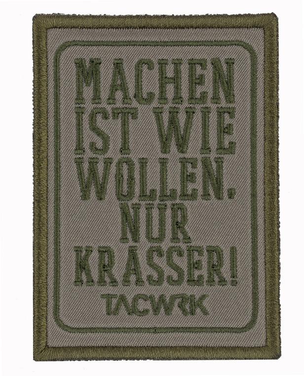 TACWRK Machen-Wollen Patch Olive