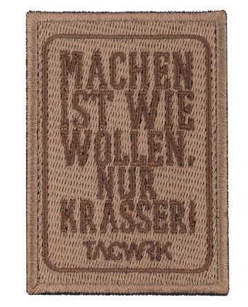 TACWRK - Machen-Wollen Patch Coyote Brown