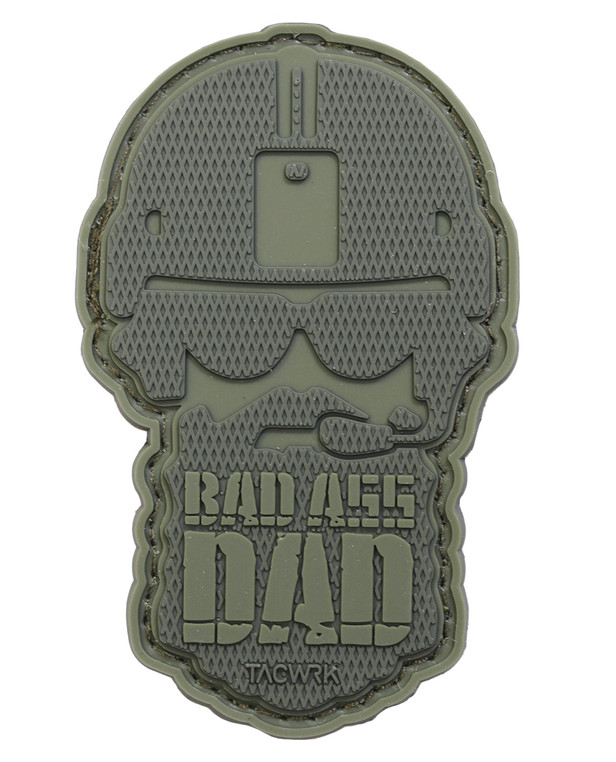 TACWRK Bad Ass Dad Patch Oliv