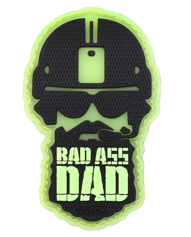 TACWRK Bad Ass Dad Patch GITD