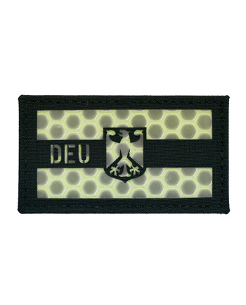 TACWRK - Deutschland Flagge Schwarz Nachleuchtend