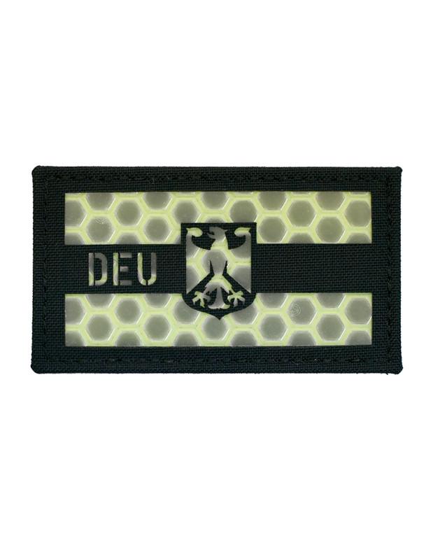 TACWRK Deutschland Flagge Schwarz Nachleuchtend