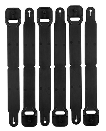 High Speed Gear - HSGI Clip Long Pack of 6 Black Schwarz