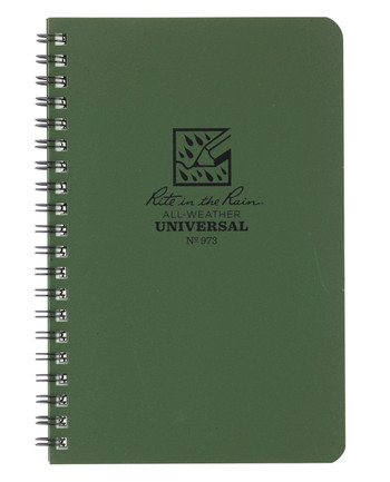 Rite in the Rain - Side-Spiral Notebook Universal Green