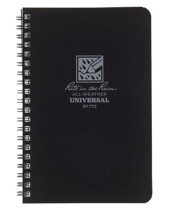 Rite in the Rain - Side-Spiral Notebook Universal Black Schwarz