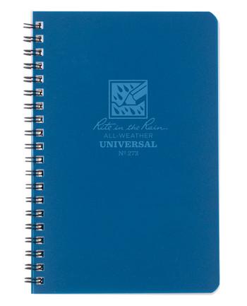 Rite in the Rain - Side-Spiral Notebook Universal Blue