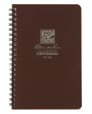Rite in the Rain - Side-Spiral Notebook Universal Brown
