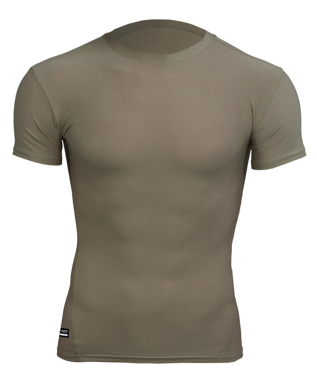 Under Armour Tactical T shirt HeatGear Compression Desert Sand 1216007 499xxx TACWRK