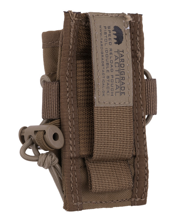 Tardigrade Tactical Speed Reload Pouch Pistol 9mm Double Stack PALS Coyote Brown
