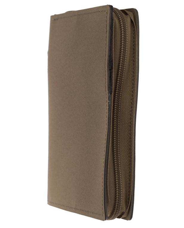 md-textil Dokumentenmappe A6 mit Reißverschluss Coyote Brown