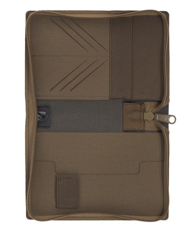 md-textil Document Case A6 w/ Zipper Coyote Brown