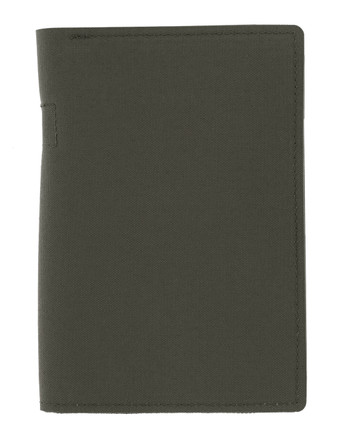md-textil - Document Case A6 w/ Zipper Stonegrey Olive