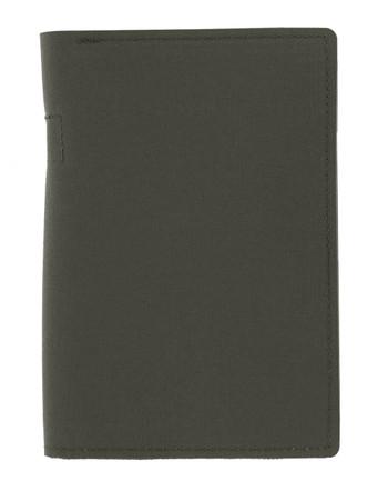 md-textil - Dokumentenmappe A6 mit Reißverschluss Steingrau Oliv