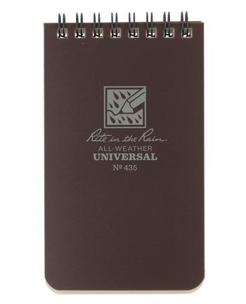 Rite in the Rain - 3 X 5 Notebook Brown